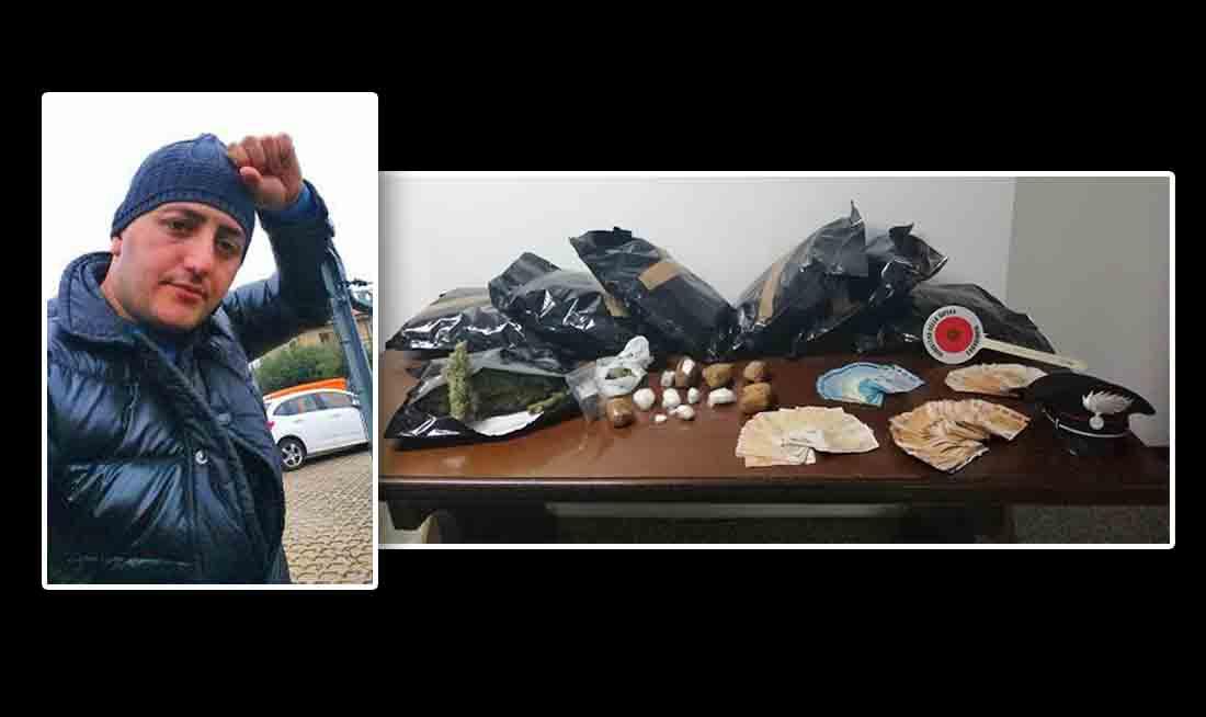TRAFFICANTE ALBANESE ARRESTATO A PADIGLIONE DETENEVA MEZZO KG. DI COCA E QUASI 7 KG. DI FUMO