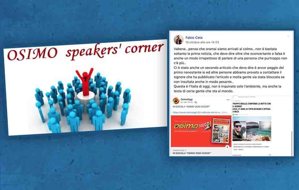 DENUNCIATO OSIMO SPEAKERS' CORNER PER IL LINCIAGGIO MEDIATICO DI OSIMO OGGI