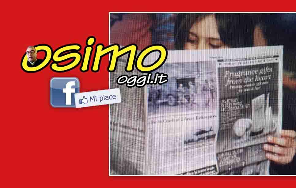 OSIMO OGGI FESTEGGIA 3 ANNI E 3 MILIONI DI POLLICI ALZATI! MEDIA LETTURA ALTISSIMA DI OLTRE 20.000 UTENTI AD ARTICOLO