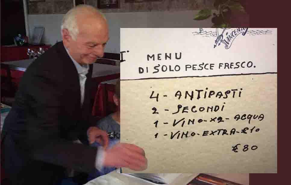 """""""MENU FISSO A 80 EURO… SENZA PRIMO, DOLCE E CAFFÈ EPPURE CACCIATI IN MALO MODO DAL SIGNOR VINCENZO!"""""""